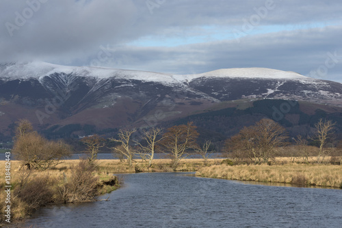 Fotografie, Obraz  Derwent river and Derwent Water in the English Lake District in winter