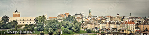 Fototapeta Panorama starego miasta w Lublinie obraz