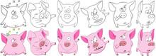 Cartoon Animals Set. Collectio...