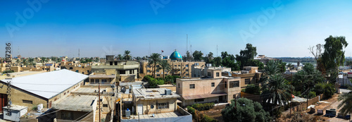 Fotografie, Tablou  Aerial Panorama cityscape view to Baghdad, Iraq