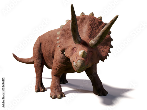 Triceratops horridus,  lived between 66 and 68 million years ago (3d illustratio Canvas Print