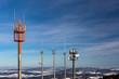 Antennenmast im Mittelgebirge