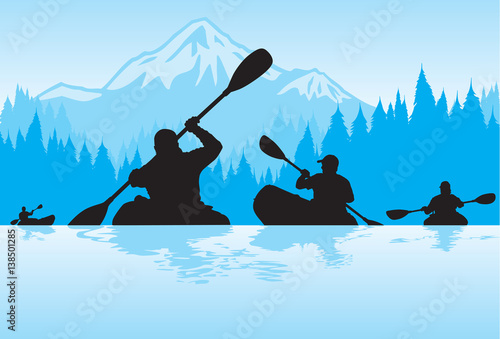 Fotografie, Obraz  Kayaking