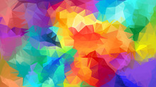 Abstract Low Poly Background. Pattern Of Triangles. Polygonal Design. Fullcolor All Colors Of The Rainbow. All Colors Of The Rainbow. Raster Copy