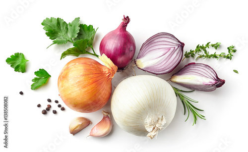 various onions and spices