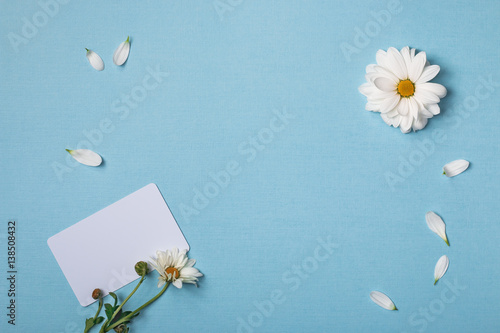 Spring Top View Composition Business Credit Visiting Card