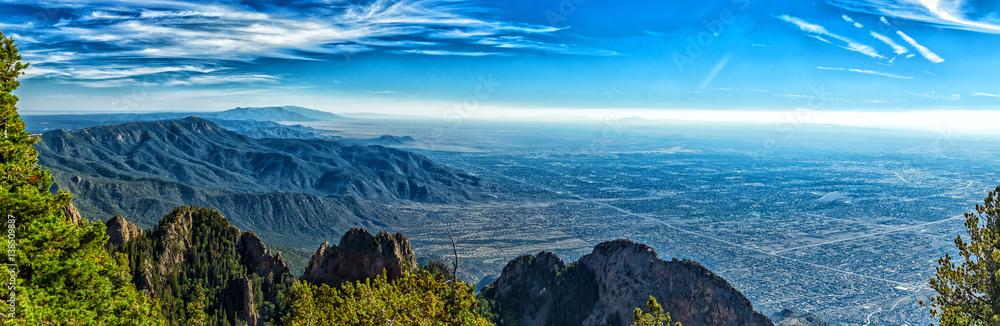 Fototapety, obrazy: A mile above Albuquerque
