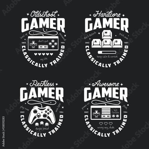 Photo Retro video games related t-shirt design