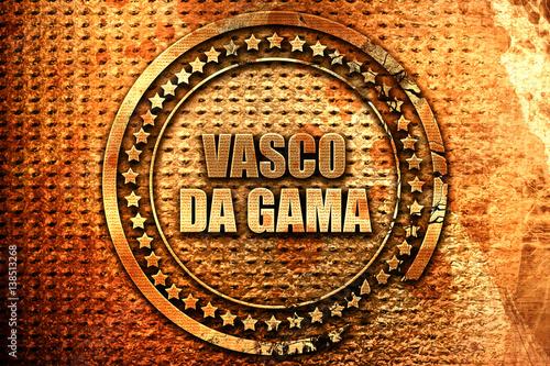 Photo  Vasco da gama, 3D rendering, metal text