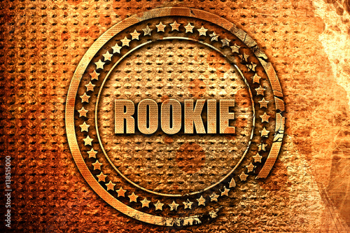 Fotografia  rookie, 3D rendering, metal text