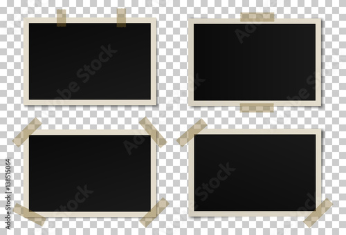 Vector set of black photo frames with various shadows Fototapet