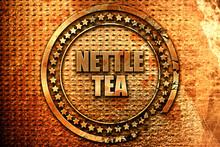 Nettle Tea, 3D Rendering, Metal Text