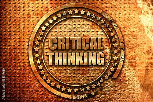 Fotografía  critical thinking, 3D rendering, metal text