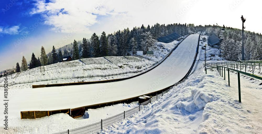 Fototapety, obrazy: Ski Jumping - Hill's Stadium in Poland