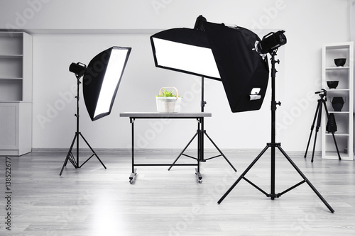 Foto  Modern photography studio for object shooting
