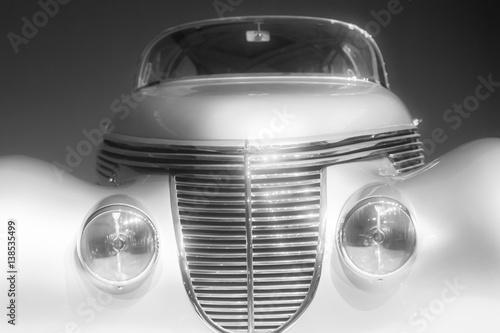 Fotografie, Obraz  classic vintage retro car detail photo