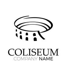Vector Abstract Coliseum, Rome. Italian Symbol