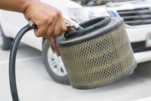 Blowing Car Air Filter