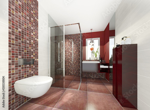 Klein Modern Bad Badezimmer Duschbad Minibad Buy This Stock Photo