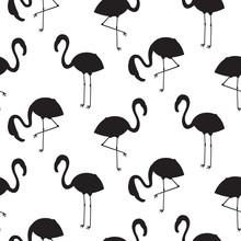 Flamingo Silhouette Seamless V...
