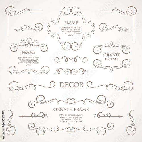 Slika na platnu Vector set of decorative elements.