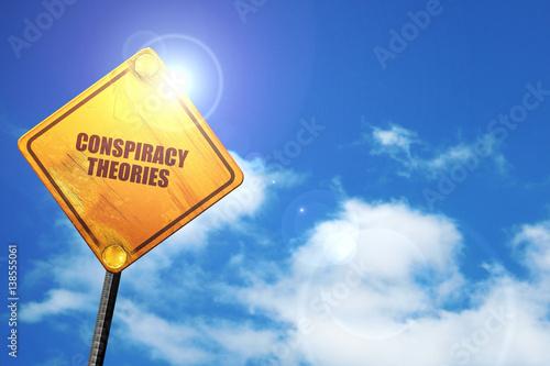 Fotografie, Obraz  conspiracy theories, 3D rendering, traffic sign