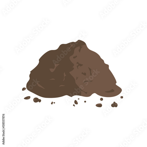 Pile of Ground or Compost Wall mural