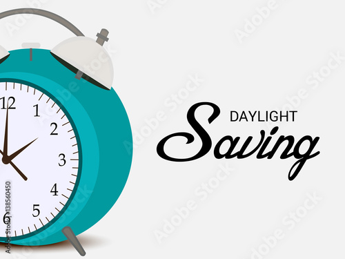 Daylight Savings Time with Clock Concept