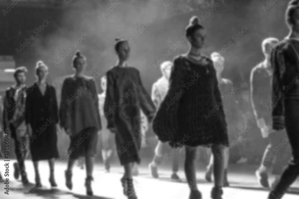 Fototapety, obrazy: Fashion Show, Catwalk Runway Event blurred on purpose