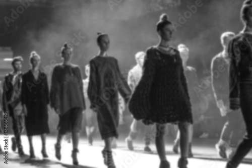 Fototapeta Fashion Show, Catwalk Runway Event, Fashion Week themed photograph blurred on purpose