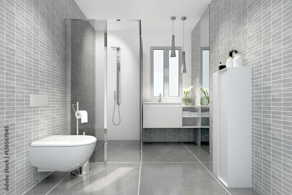 Photo Art Print Klein Raffiniert Modern Bad Badezimmer Duschbad