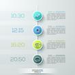 Modern business circle infographics template