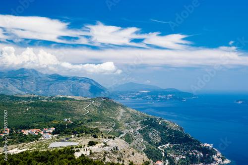 Canvas Prints Blue Dubornik Croatia Mountains View