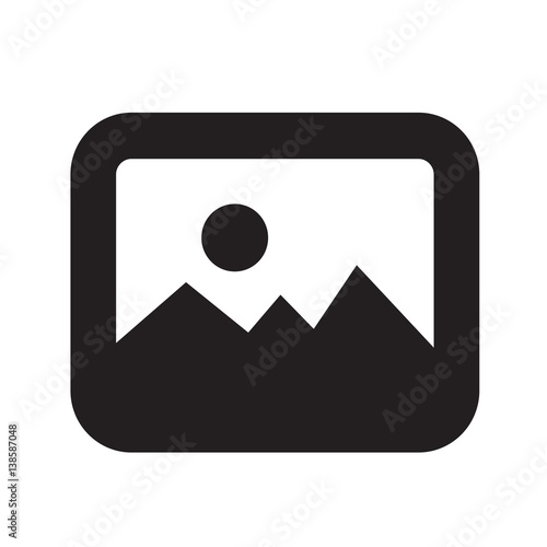 Fotomural  Photo icon vector illustration
