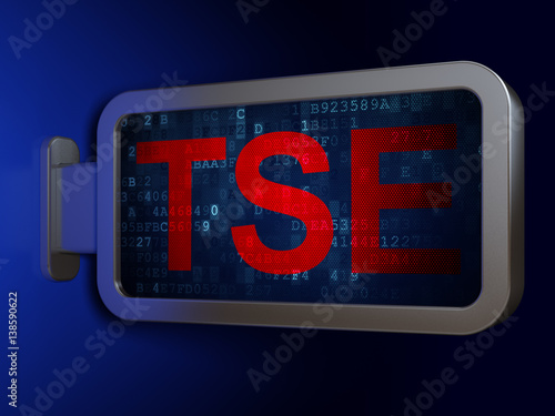 Stock market indexes concept: TSE on billboard background Tapéta, Fotótapéta