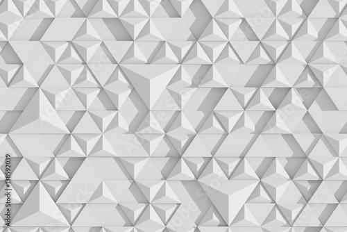 bialy-wielokatne-trojkat-geometryczne-powierzchni-renderowania-3d-tekstury
