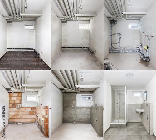 Foto Sanierung eines Badezimmers