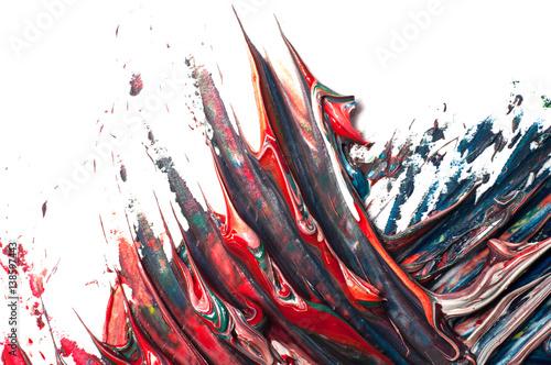 czarno-czerwone-pociagniecia-na-bialym-tle-obraz-abstrakcyjny