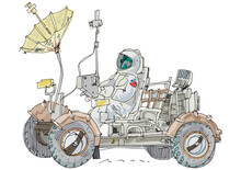 Lunar Rover - Cartoon