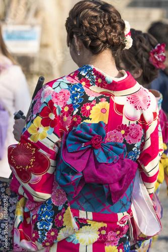 Fotografie, Tablou  femme en kimono japonais