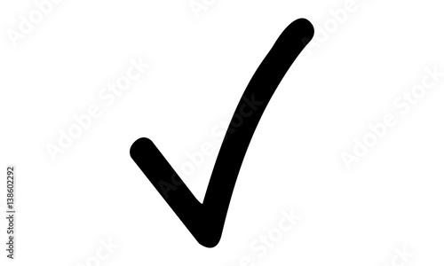 Fototapeta Pictogram - Check, Checkmark, Hooklet, Tick, Tickmark - Object, Icon, Symbol obraz na płótnie