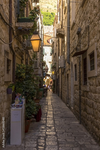 Narrow street in Old Town Dubrovnik Poster