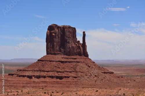 Fotografie, Obraz  Famous Monument Valley Butte