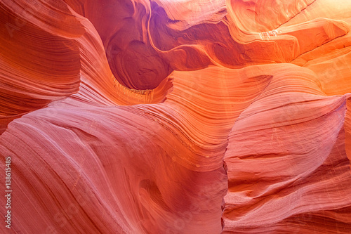 Poster Corail Antelope Canyon Slot Canyon Page Arizona