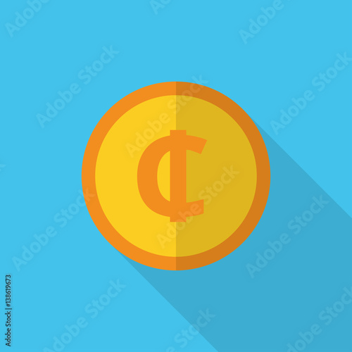 Currency Symbol On Gold Coin Ghana Cedi Buy This Stock Vector And