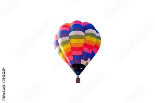 Balloon cut-out isolate on white background