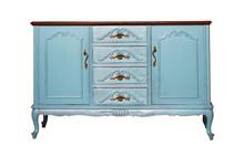 Vintage Blue Wooden Dresser Is...