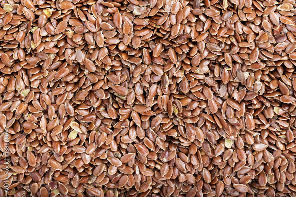 Fototapety, obrazy: flax seeds background