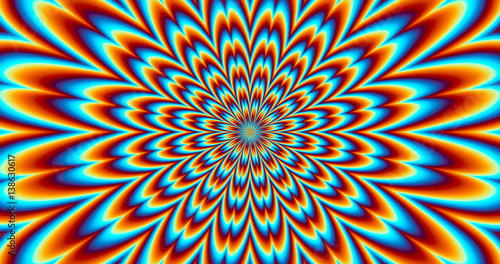 Fototapeta  Contraction Vibration - Optical Illusion