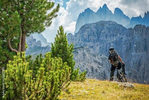 Fotografie, Obraz  Biker on the Biking Trail